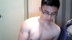 Chinese Nerd Jerkoff Solo
