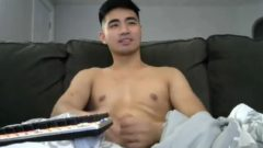 Pumped Up Asian Jerk off