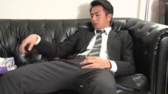 Young Suit man Wanking Jerk
